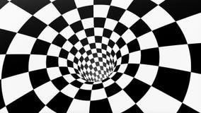 VJ oneindig voorzag schaakbordtunnel van een lus stock footage