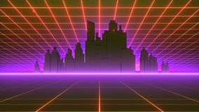 VJ 80 ` s Synthwave styl ilustracja wektor