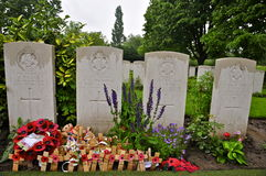VJ Strudwicks Grave,  Essex Farm Cemetery Royalty Free Stock Images