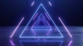 VJ trójboka abstrakcjonistyczny Neonowy tunel royalty ilustracja
