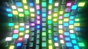 VJ wall from cubes. 3d rendering of the VJ wall from cubes vector illustration