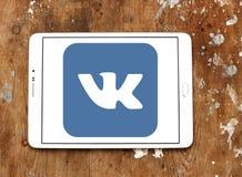 Vk logo. Vk application logo and vector on samsung tablet Stock Photography