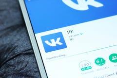 Vk mobiele androïde app Royalty-vrije Stock Fotografie
