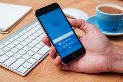 Vkontakte是快和容易的通信的一个社会网络 图库摄影