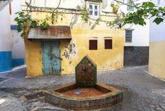 Väl av Medina i Tangier, Marocko Arkivfoton