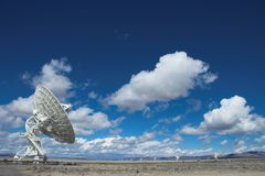 VLA Very Large Array. VLA Huge Radio Antenna listening to Space Royalty Free Stock Images
