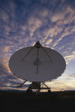 VLA Very Large Array radio telescope dish at dusk Royalty Free Stock Image