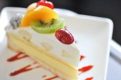 Vlaai of fruitcake royalty-vrije stock fotografie