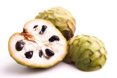 Vlaappel of cherimoya Stock Foto