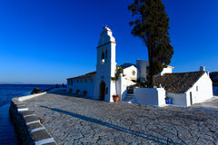 Vlacherna修道院, Kanoni, Corfu 库存图片