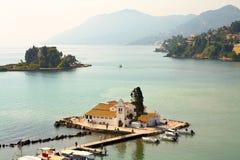 Vlacherna Monastery on Corfu Stock Photo