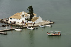 Vlacherna Monastery, Corfu, Greece stock photography