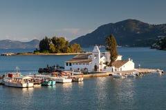 Vlacherna monastery, Corfu, Greece Stock Images
