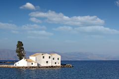 Vlacherna monastery Corfu Stock Photo