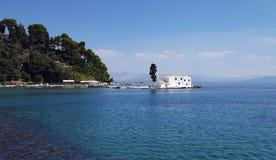 Vlacherna Monastery on Corfu island Royalty Free Stock Photography