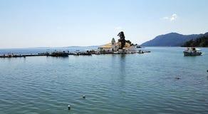 Vlacherna Monastery on Corfu island Royalty Free Stock Images