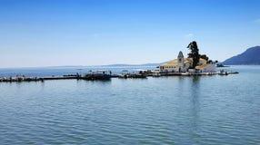 Vlacherna Monastery on Corfu island Royalty Free Stock Image