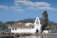 Vlacherna monastery Corfu island Greece Stock Images