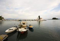 Vlacherna monastery at Corfu town Royalty Free Stock Images