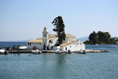 Vlacherna monastery in Corfu Town (Greece) Stock Images