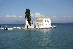 Vlacherna monastery in Corfu Town (Greece) Stock Image