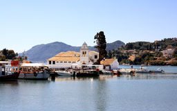 Vlacherna monastery in Corfu Town (Greece) Royalty Free Stock Image