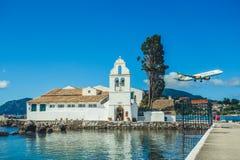 Vlachernaklooster in Korfu Stock Afbeeldingen