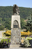 Vlad the Impaler. Memorial of Vlad the Impaler in Romania stock photo