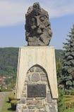 Vlad Tepes雕象在Sighisoara,罗马尼亚 免版税库存照片