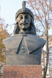 Vlad Tepes bust statue also know as Dracul Dracula stock photos
