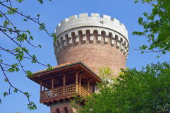 Landmark attraction in Bucharest, Romania. Vlad Tepes Castle - National Office for the Heroes Memory Stock Photography