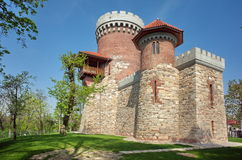Landmark attraction in Bucharest, Romania. Vlad Tepes Castle - National Office for the Heroes Memory. Landmark attraction in Bucharest, Romania. Vlad Tepes Royalty Free Stock Photo