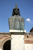 Vlad Tepes - Dracula. The monument of famous ruler of Wallachia, Vlad Tepes (the Impaler) aka Dracula. Born 1431, died 1476 Stock Photos