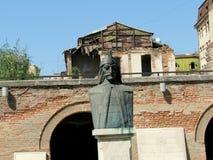 Vlad Tepes Dracula-standbeeld royalty-vrije stock afbeelding