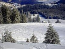 Vladeasa客舱不劳而获滑雪胜地 免版税库存照片