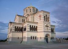 Vladimir东正教大教堂在Chersonesus 库存图片