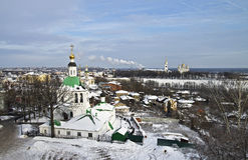 Vladimir市视图。 免版税库存照片