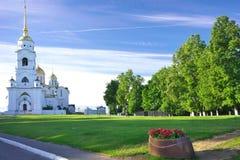 1158 1160 vladimir лета России предположения построенных собором Стоковое Изображение RF