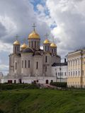 Vladimir. Uspenskiy cathedral in Vladimir 12-th century in Russia stock image