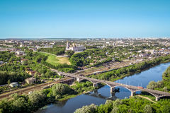 Vladimir in aerial view summer, Russia Stock Photos