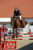 Vladimir Beletskiy op Serafina - toon het springen Stock Foto's