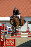 Vladimir Beletskiy on Serafina - show jumping Stock Photos