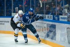 Vladimir Bryukvin 83 auf Hockeyspiel Stockbild