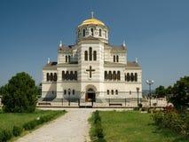 Vladimir Cathedral. Beautiful Vladimir Cathedral in Sebastopol Stock Photo