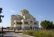 Vladimir Cathedral in Chersonese Taurian, Sebastopol stock foto
