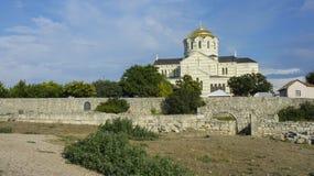 Vladimir Cathedral in Chersonesos in cui in 987 potrebbe essere principe batezzato Vladimir di Kiev fotografia stock