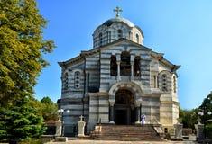 Vladimir Cathedral a Sebastopoli in Crimea fotografie stock
