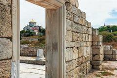 Vladimir Cathedral in Tauric Chersonesos, Sevastopol city, Crime Royalty Free Stock Image
