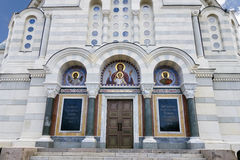 The Vladimir cathedral - a tomb of Russian admirals Royalty Free Stock Photo