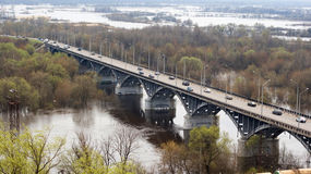 Vladimir city bridge Stock Photos